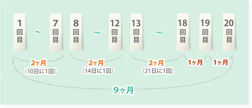 施術回数の図